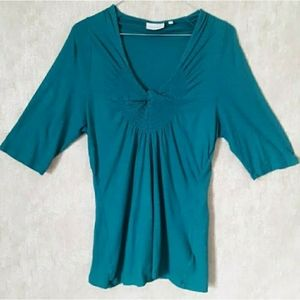 Anthropologie - Deletta real blue v neck top large